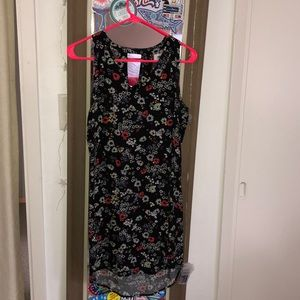 floral sleeveless sundress, back cut out